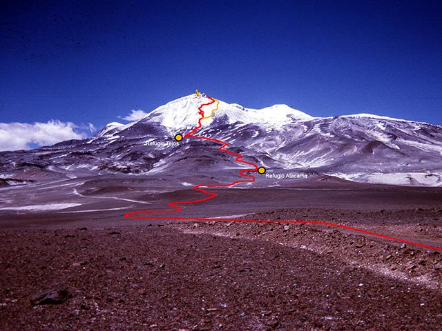 Vulkan Ojos del Salado, der höchste Vulkan der Welt